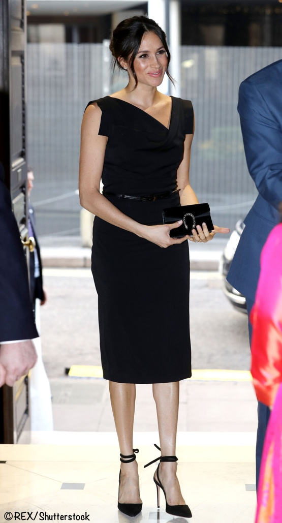 37643eb8d30a9d Meghan chose a dress by Black Halo for a Women's Empowerment reception this  evening.