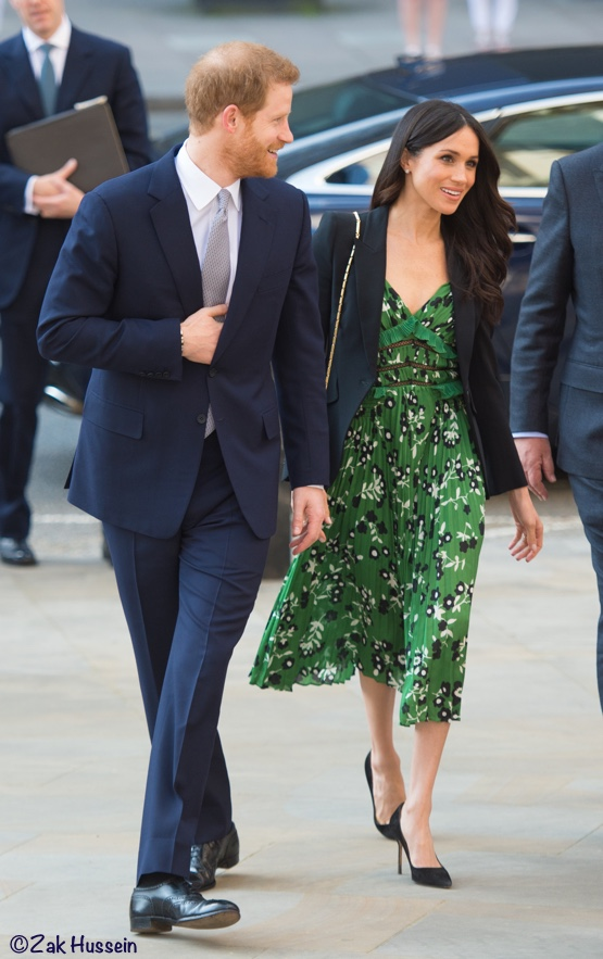 522b8116126a ... Self-Portrait Dress for Invictus Reception. Meghan was in a mix of new  and old pieces for today's visit to Australia House with Prince Harry.