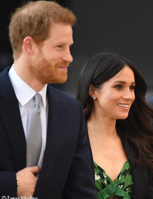 7c2c250ce510 Meghan in Springy Green Self-Portrait Dress for Invictus Reception ...