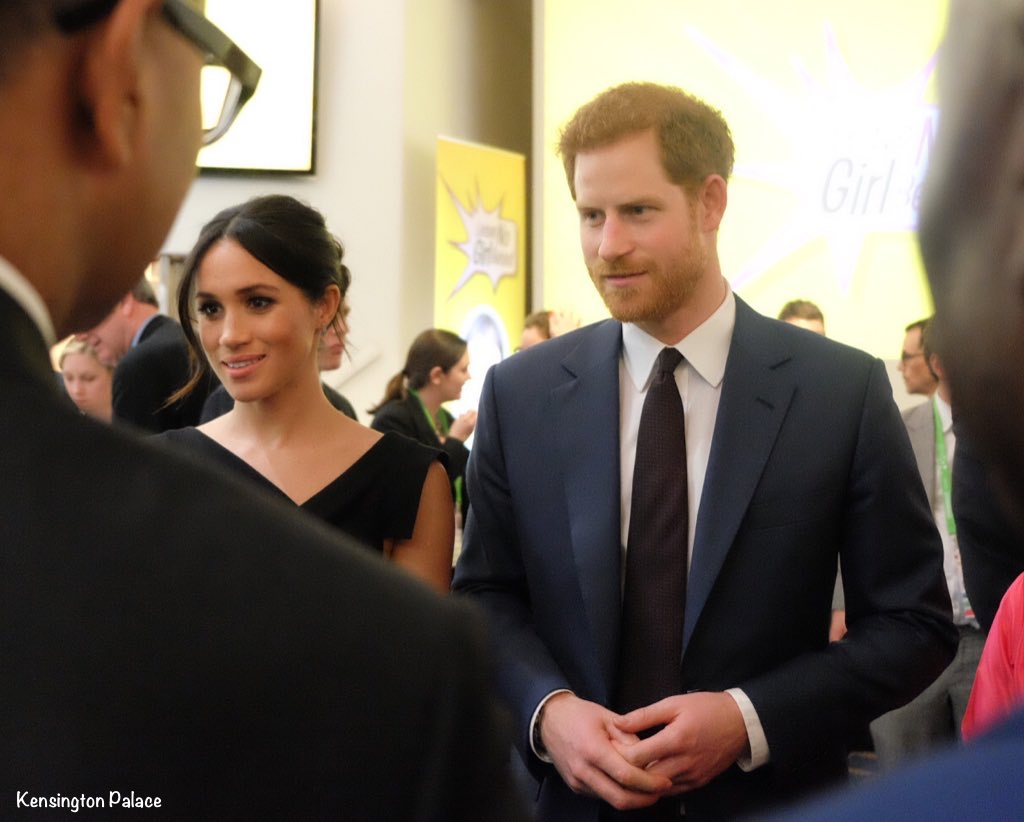 023ab4e28f338e Richard Palmer of The Express shared this video of the duo arriving. Prince  Harry and Meghan Markle ...