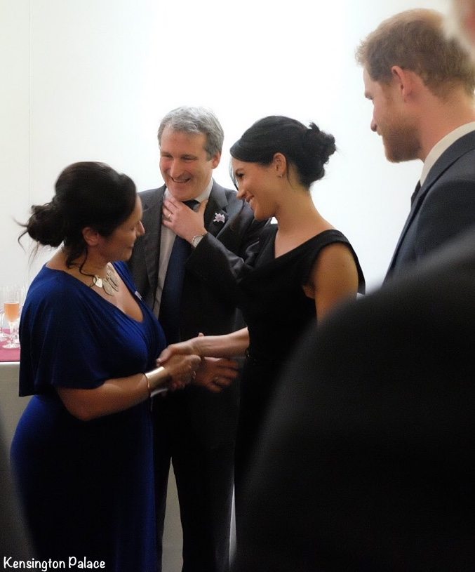 Meghan in Black Halo\'s Renowned Jackie O Dress for Evening Reception ...