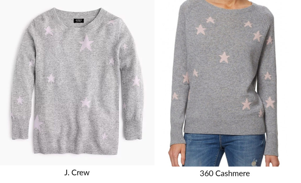 e86d29f1495 ... J. Crew has a nice Match Meg at great price – the Everyday cashmere  sweater in kaleidoscope star print – Oxford Chiffon