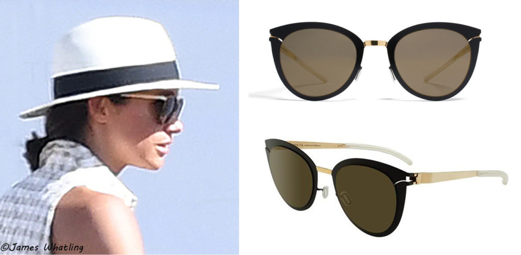 dff31a8113 It looks like Meghan was wearing her Mykita  Priscilla  sunglasses as well  yesterday. This is a pair she has owned for sometime and was seen wearing  at ...