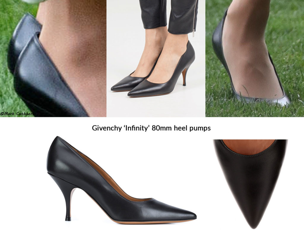 17d5aedb8 Meghan was in a pair of black heels that very much look like the Givenchy  Infinity Pump.