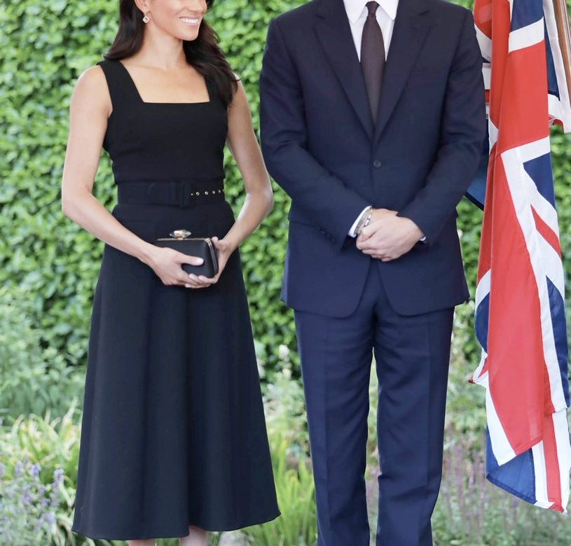It s Givenchy   Emilia Wickstead for Duke   Duchess s First Overseas Trip 8620ab3d3e5a8