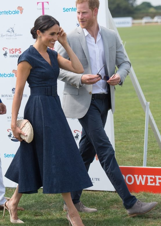 4554e3ba68 Meghan in Carolina Herrera for Sentebale Polo Cup Charity Event ...