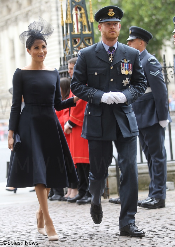 2a35a6020ae A closer look at Meghan and Harry arriving for the service at Westminster  Abbey marking the occasion. This is the first time Prince Harry has worn  the RAF ...