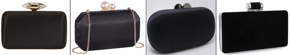 32f6de23c2 AUG 7  For the Givenchy black satin clutch with jeweled clasp we offer the  following suggestions (left to right)  the women s Clutch with Pearls  ( 18.75)  ...