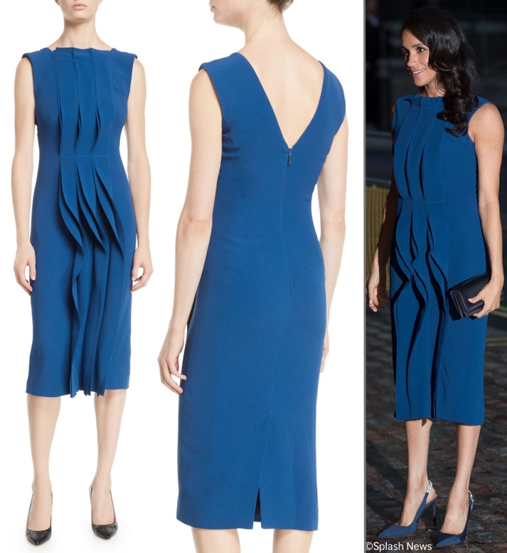 640627907434 31 MAY: Meghan's Jason Wu Pintucked Cady Dress is 40% off, now $1137, it  was originally $1895. The piece was worn for the 100 Days to Peace concert  in ...