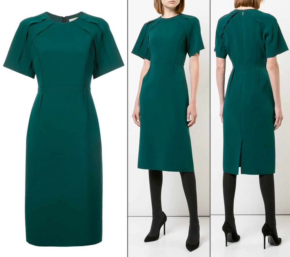 Jason Wu peacock green fitted dress meghan markle oct 24 2018
