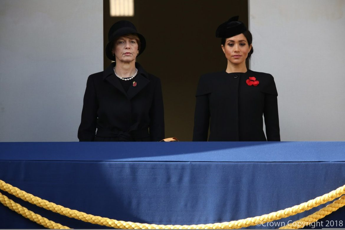 9ec9b911721ac6 The Duchess of Sussex in Givenchy for Her First Remembrance Sunday ...