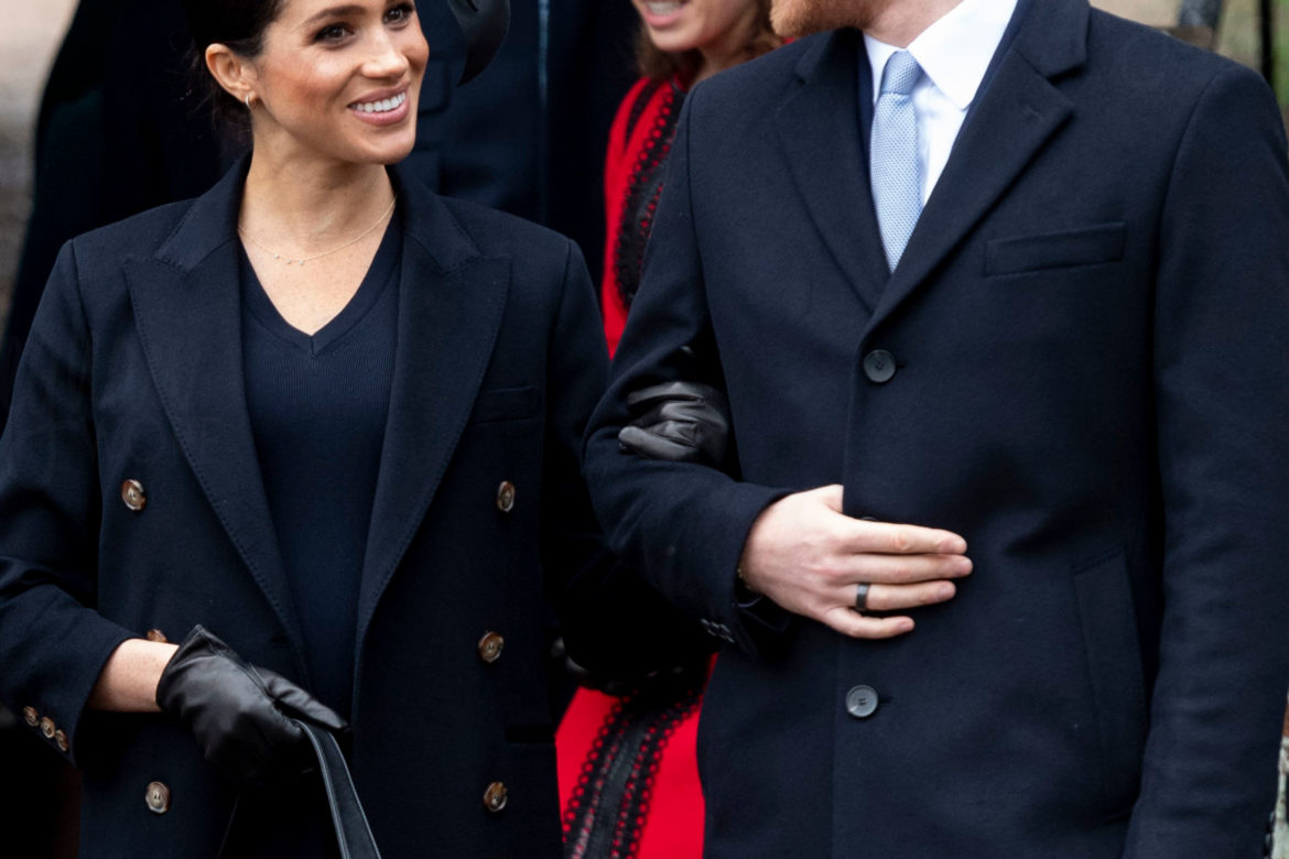 1137cb79c6 Meghan In Victoria Beckham for Christmas Day Church Service UPDATED ...