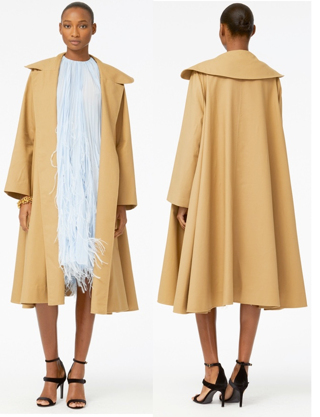 Duchess Sussex Meghan Markle Oscar de la Renta Cotton Twill coat