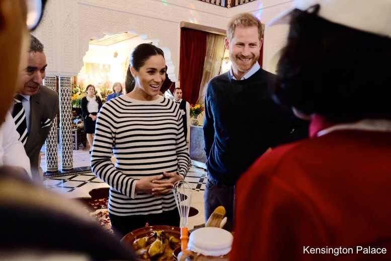 Image result for meghan markle striped maroc