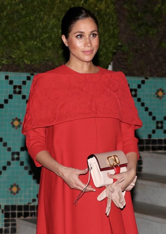 969ab3ce8b5 The Duchess Wears Valentino for Morocco Arrival – What Meghan Wore