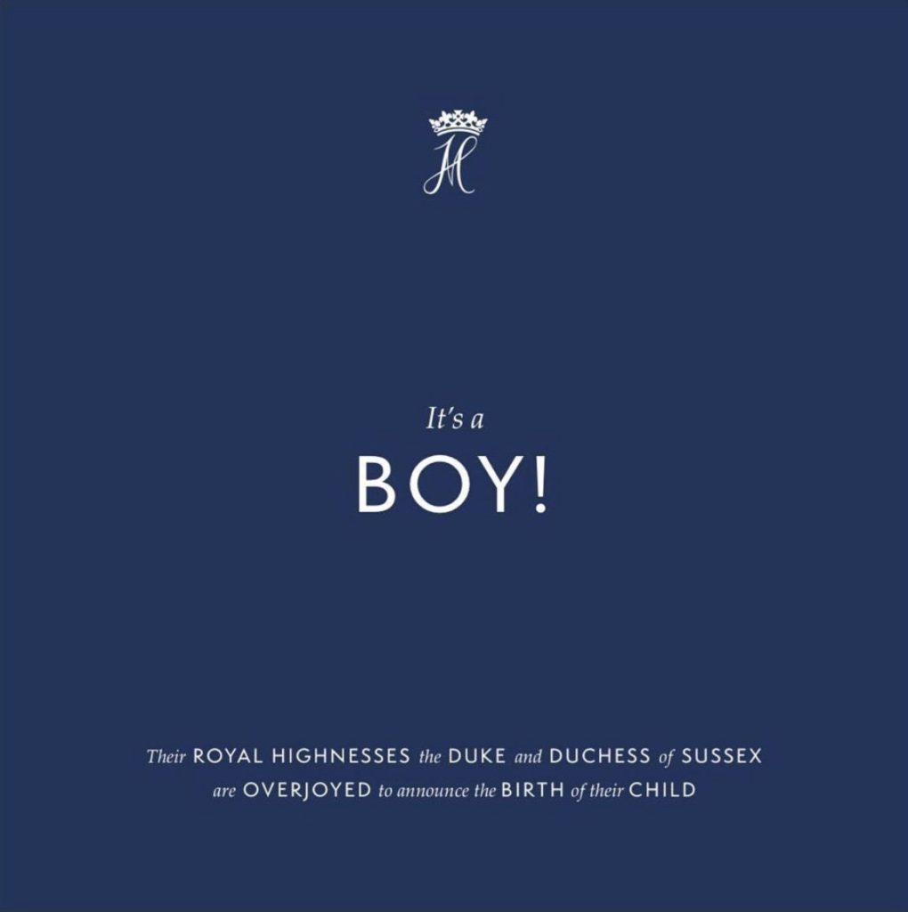 It'a Boy! The Duke & Duchess Of Sussex Have A Baby Boy