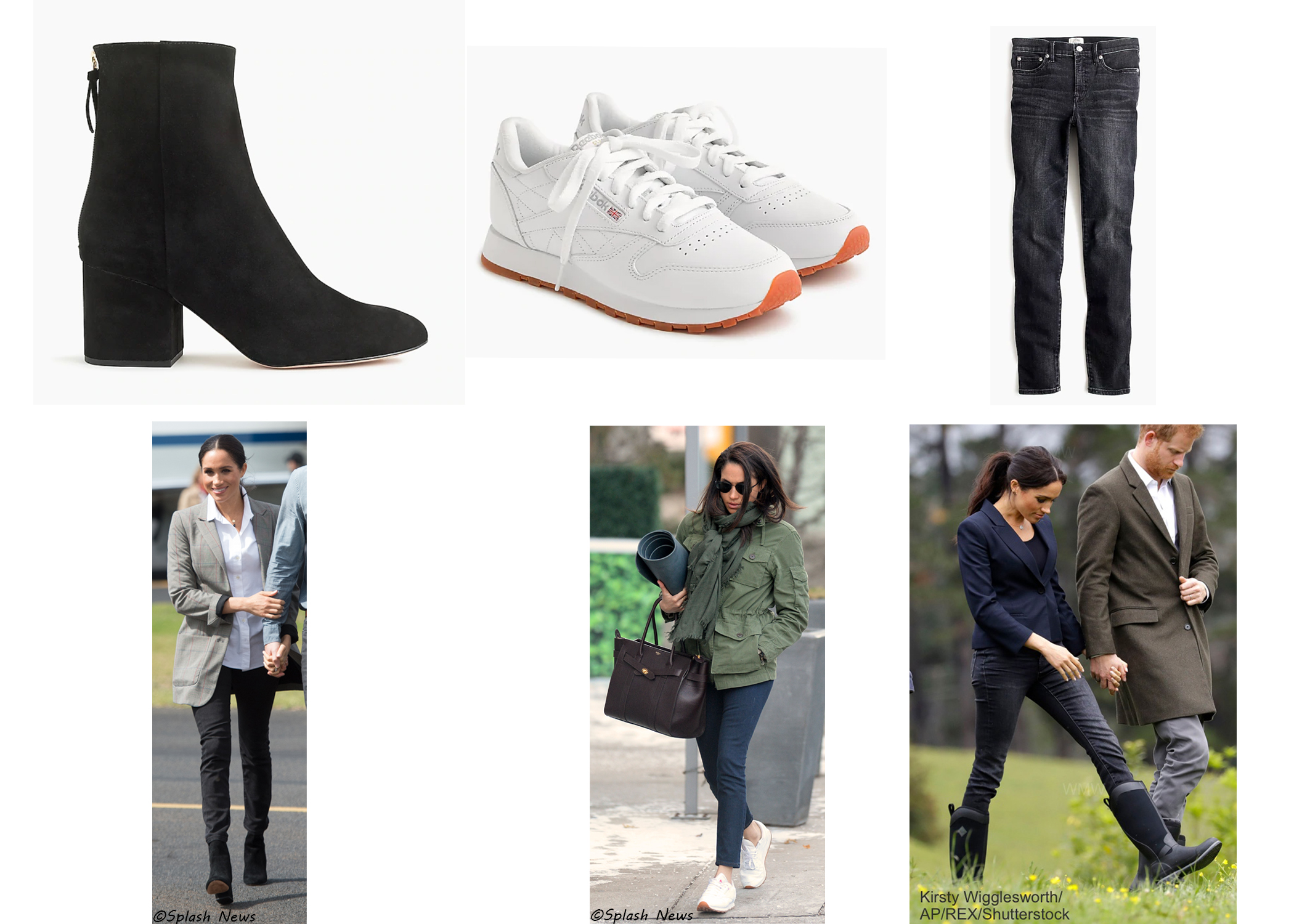 1c856e8fd159 Meghan has been seen wearing a J.Crew green utility jacket and sandals on a  number of occasions. Here are two #MatchMegStyle options from J.Crew  included in ...