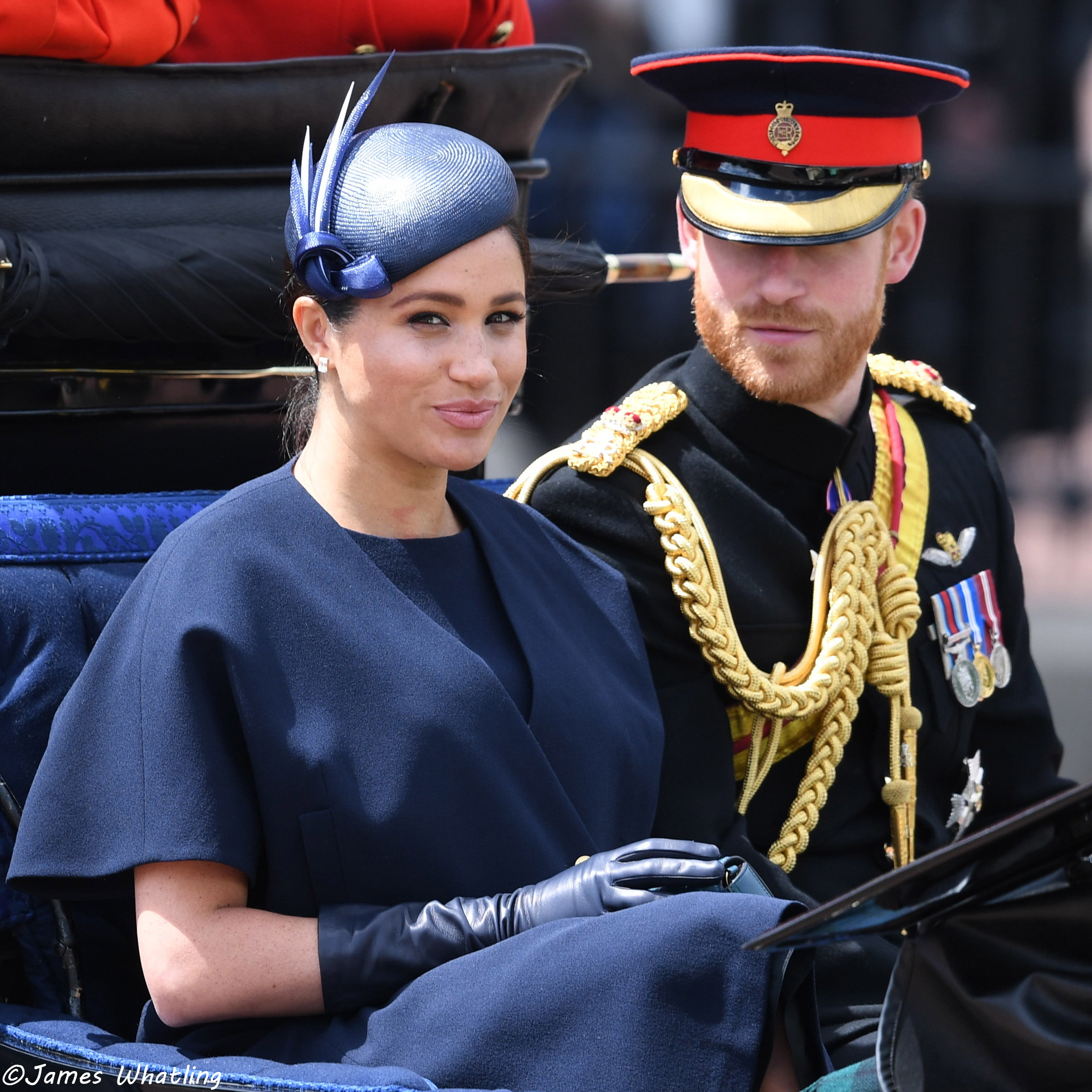 1522dc50884670 Meghan Makes a Surprise Appearance at Trooping the Colour! – UPDATED ...
