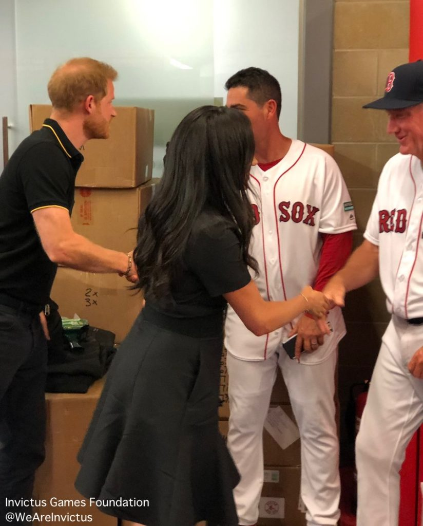 927d144b Meghan Makes Surprise Appearance at Red Sox/Yankees Game….in London ...