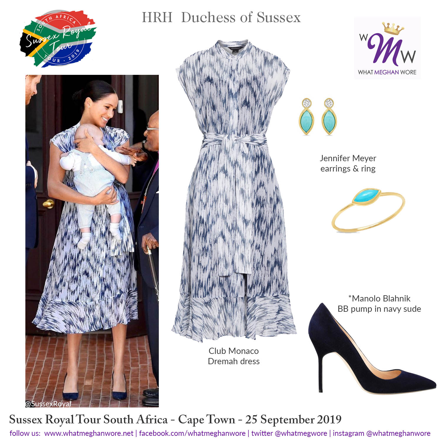 Instagram Wmw Royal Tour Safrica Day 3a Club Monaco What Meghan Wore