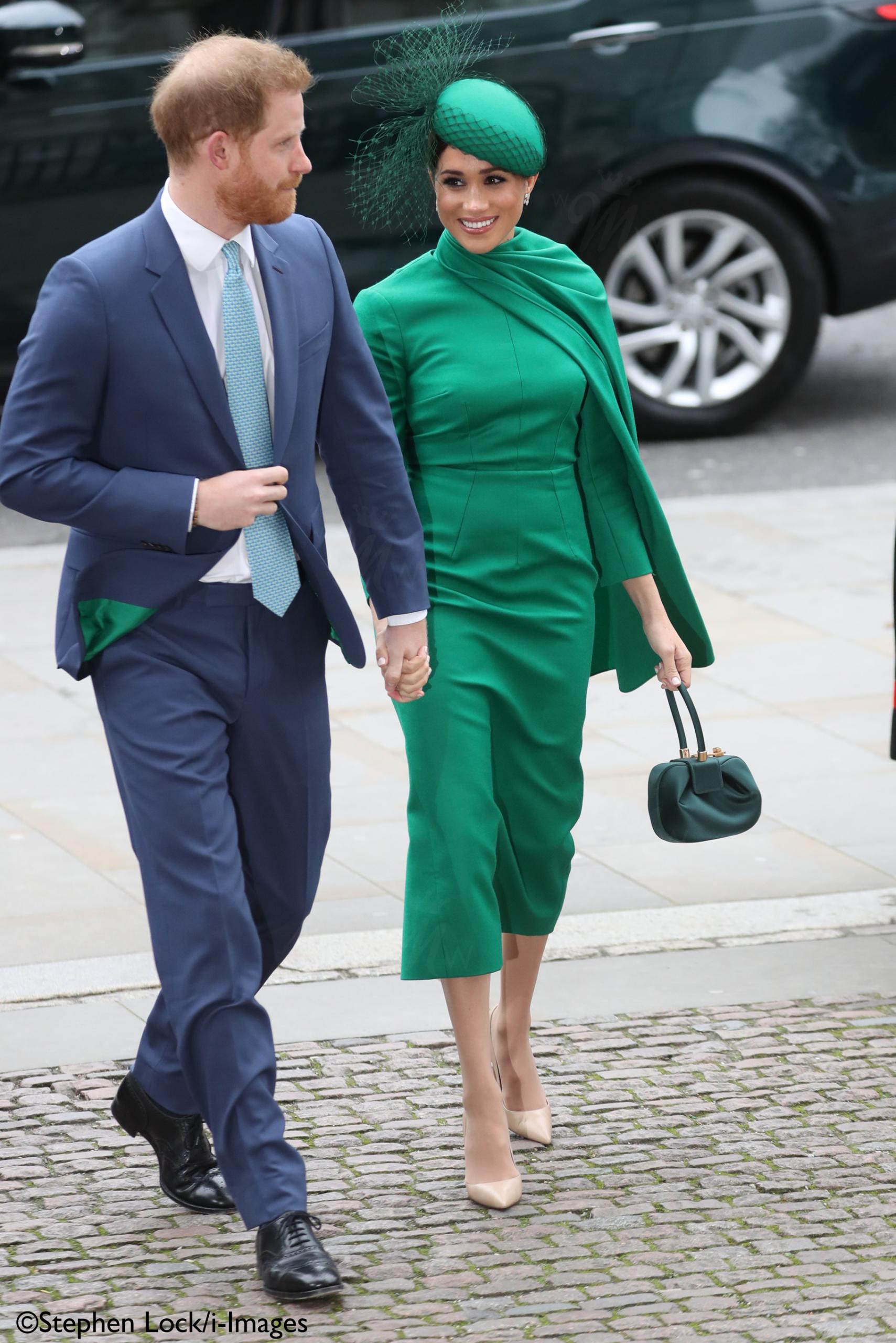 meghan in emerald green emilia wickstead for commonwealth service meghan in emerald green emilia wickstead for commonwealth service