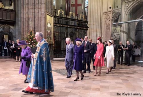 Procession to Front Queen Dean Westminster Commonwealth Service Mar 11 2019 TRF